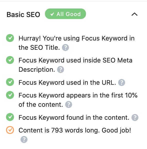 Rank Math SEO features